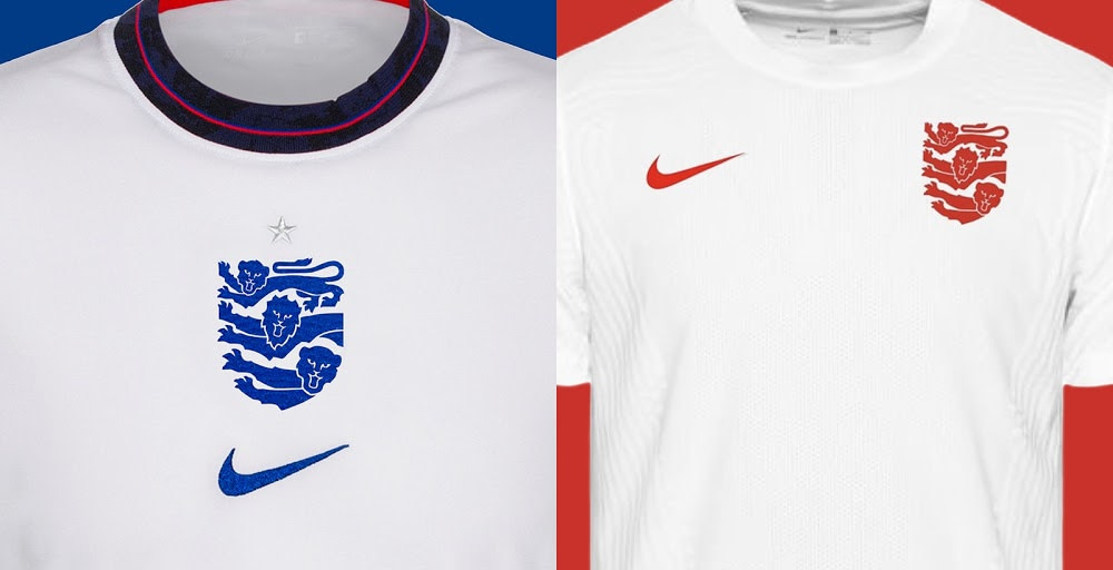 england football new kits for three lions redesign