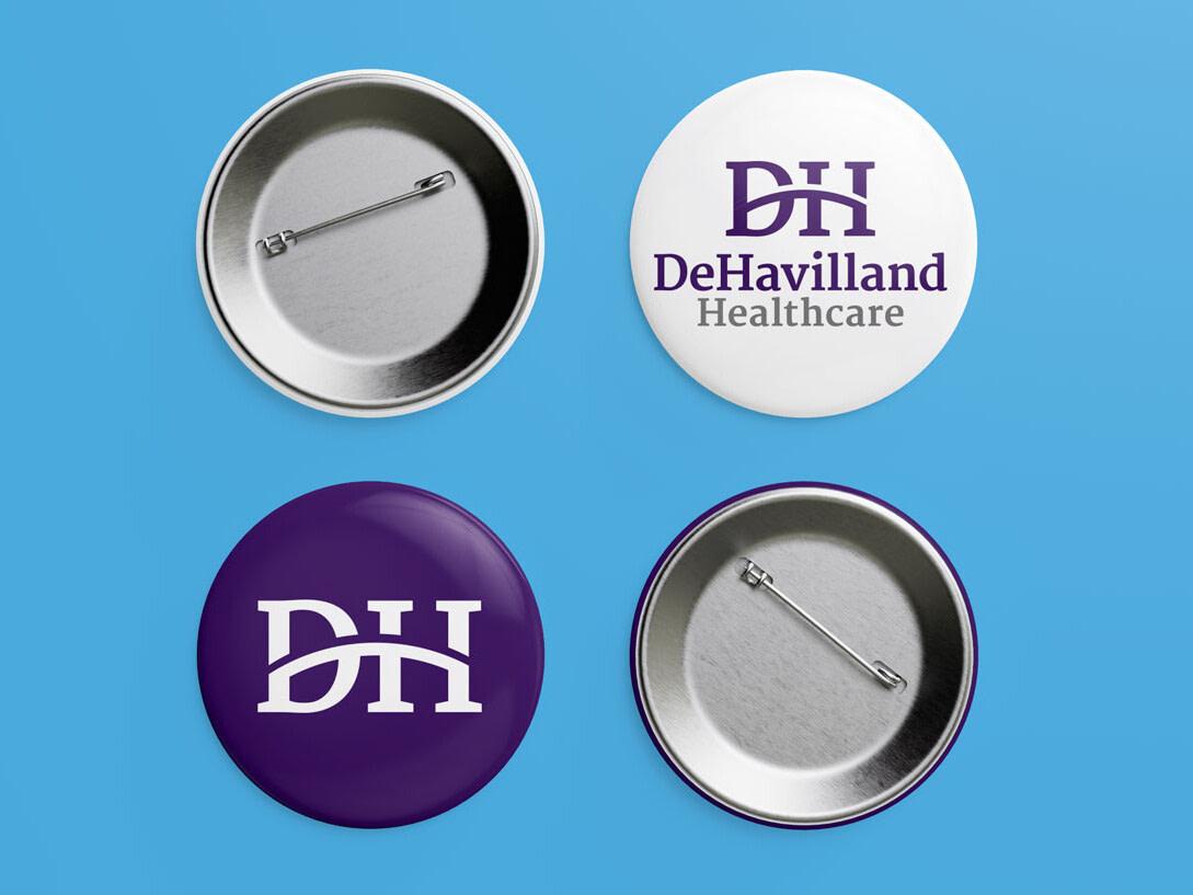 DeHavilland pin badges mockup uai