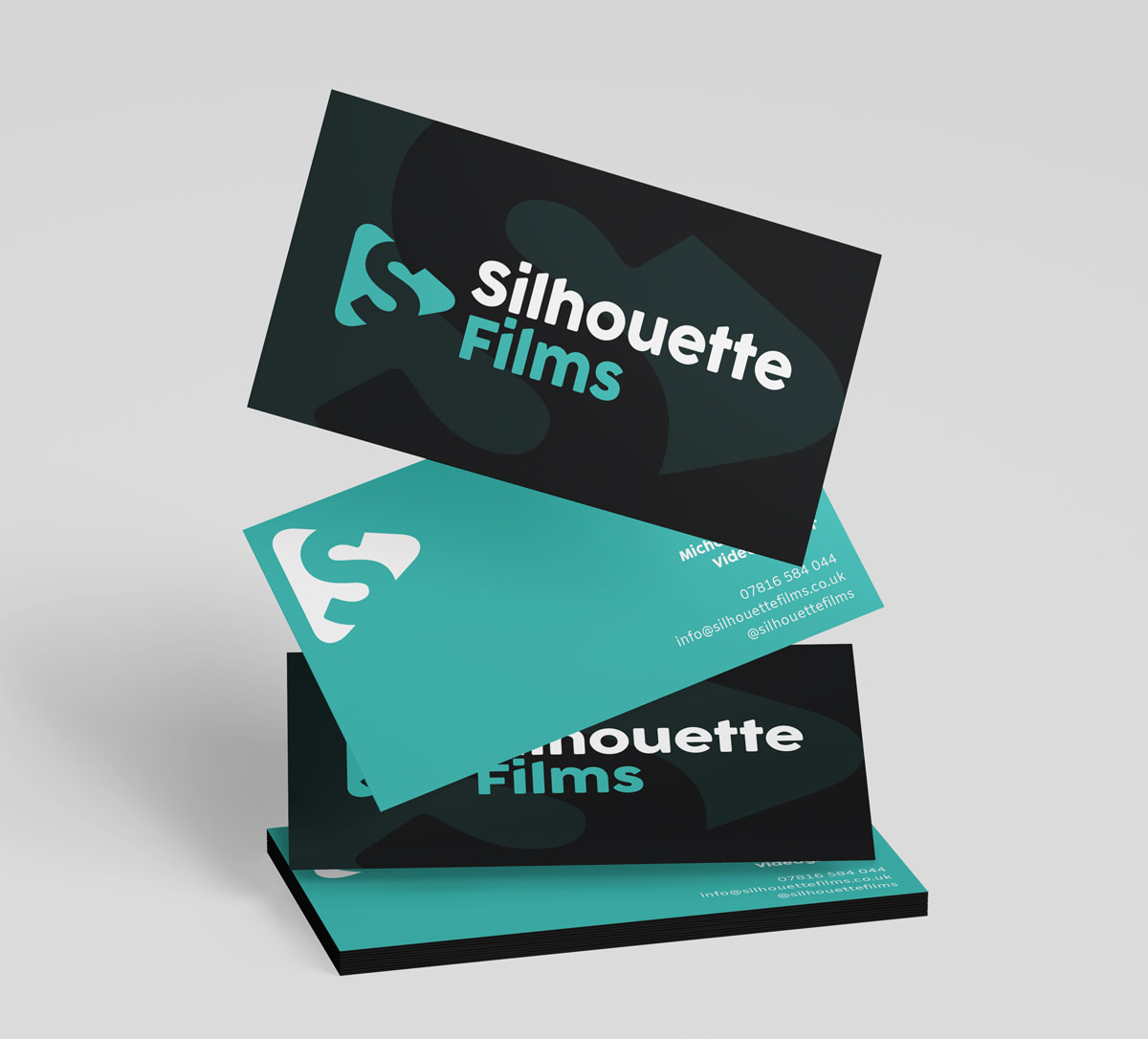 silhouette films Business Card Mockup