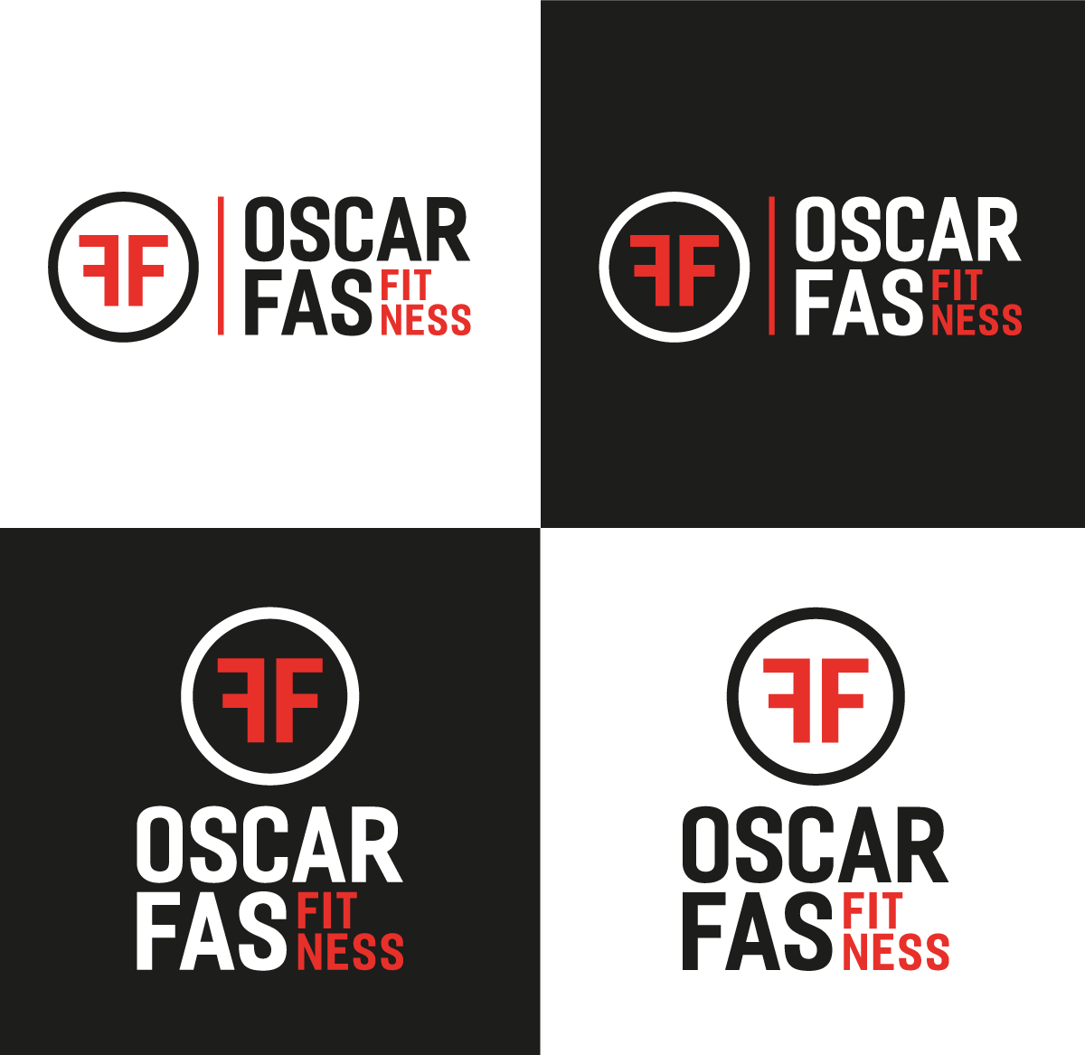 OSCAR FAS FITNESS PERSONAL TRAINER LOGO CONFIGURATIONS