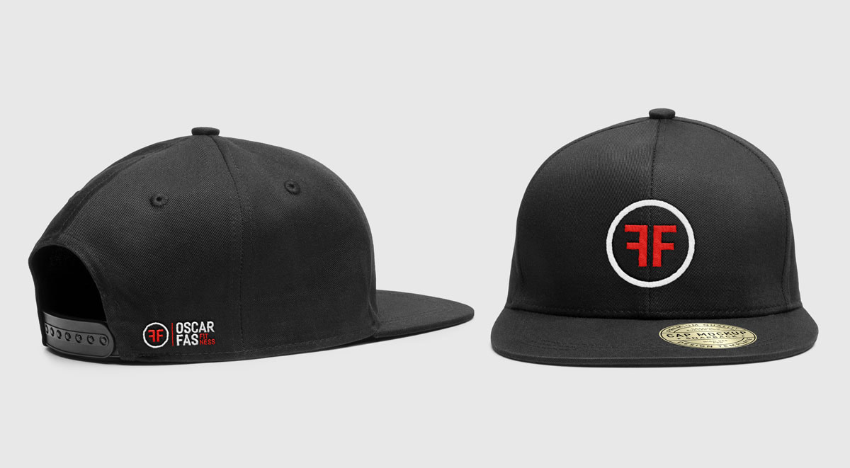 OSCAR FAS FITNESS PERSONAL TRAINER LOGO ON CAP MOCKUP