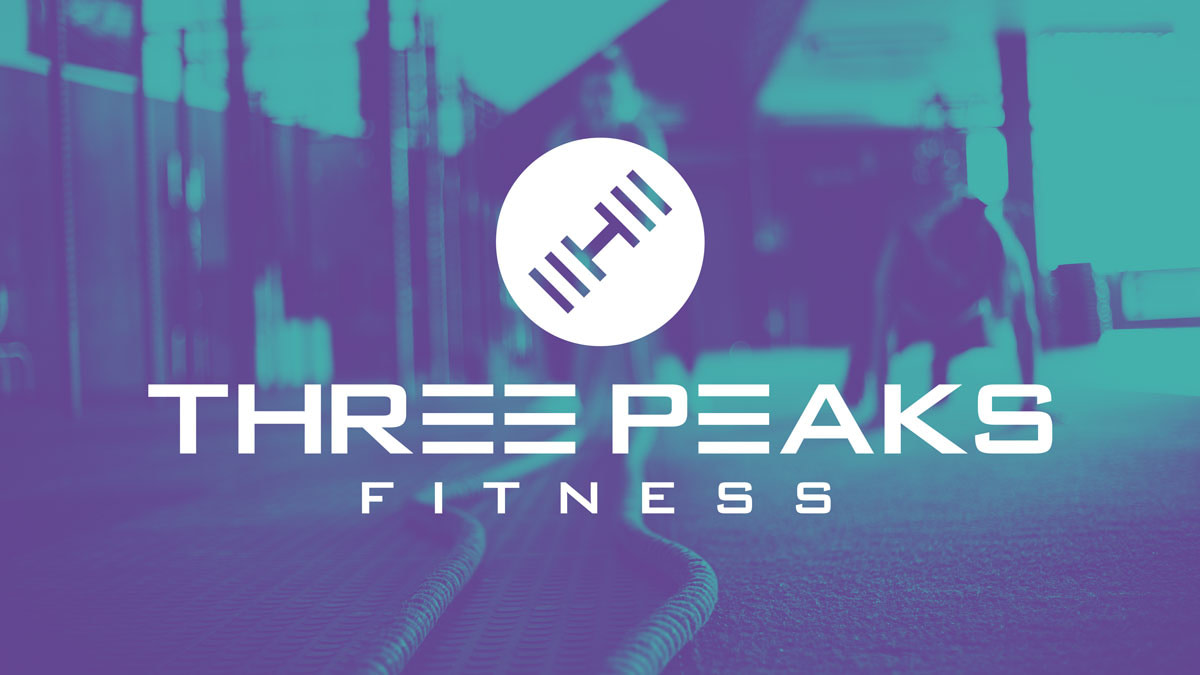 THREE PEAKS FITNESS PERSONAL TRAINER STACKED LOGO TRAINING ROPE HEADER