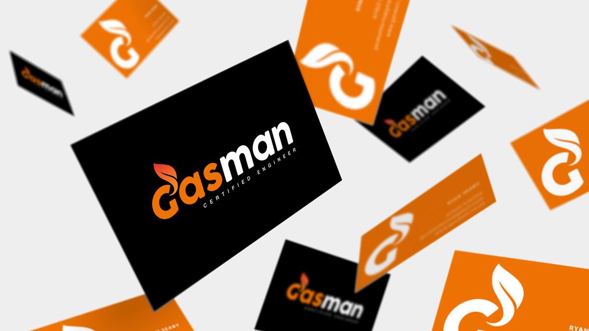 GASMAN business card Mockup uai