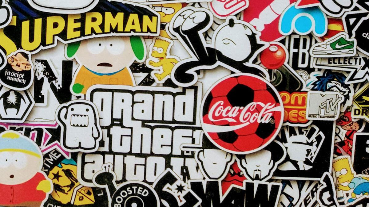logo sticker wall example what is a logo blog uai