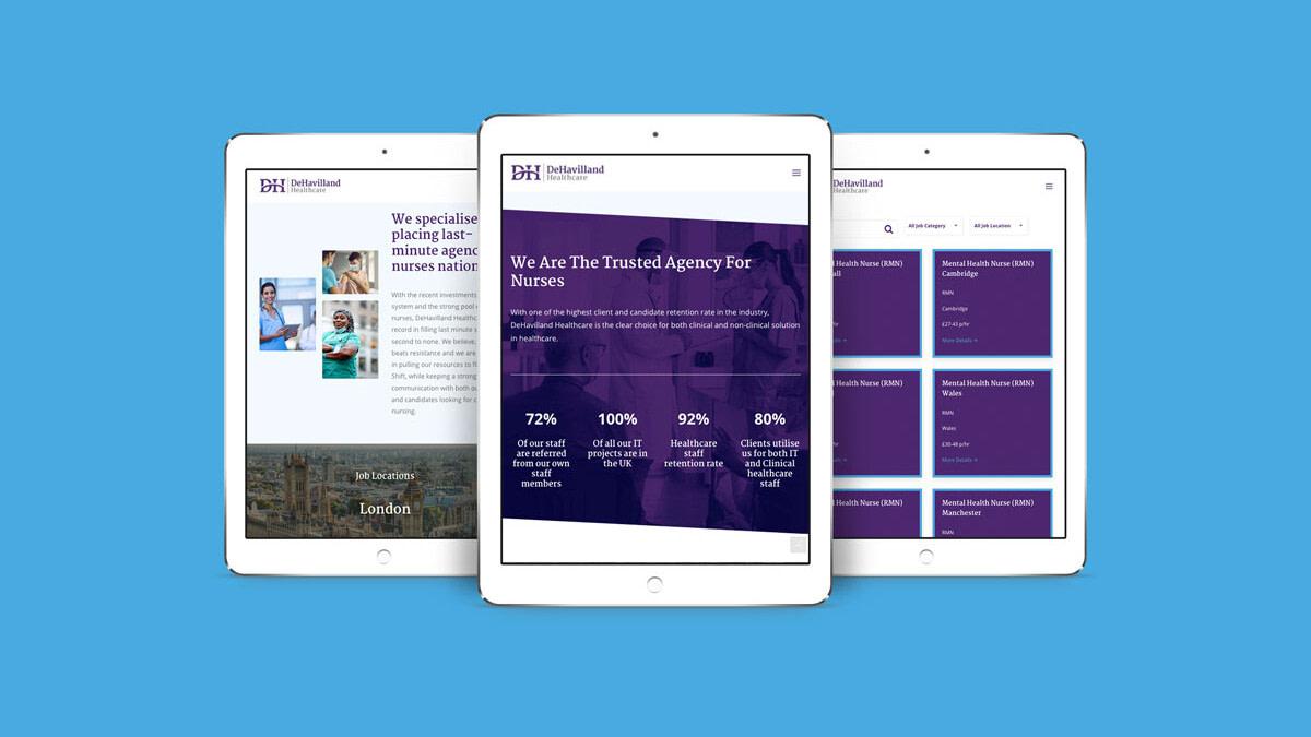 Dehavilland Healthcare iPad Pro 3 views uai
