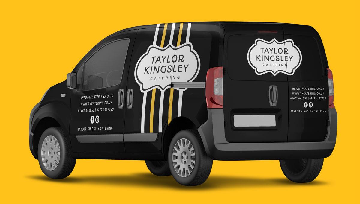 taylor kingsley catering small van mockup