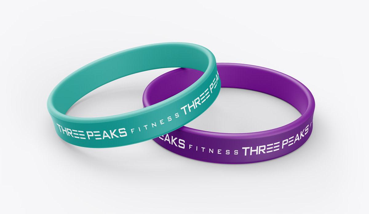 three peaks branding design bracelet mockup optimised