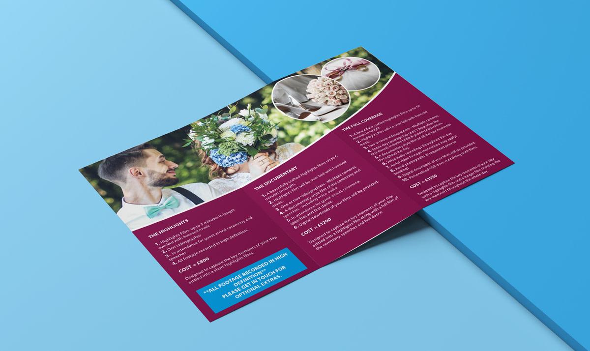 Elev8 Imagery Print Design Tri Fold Leaflet Inside View Flat