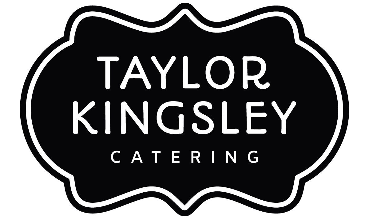 taylor kingsley catering logo black and white