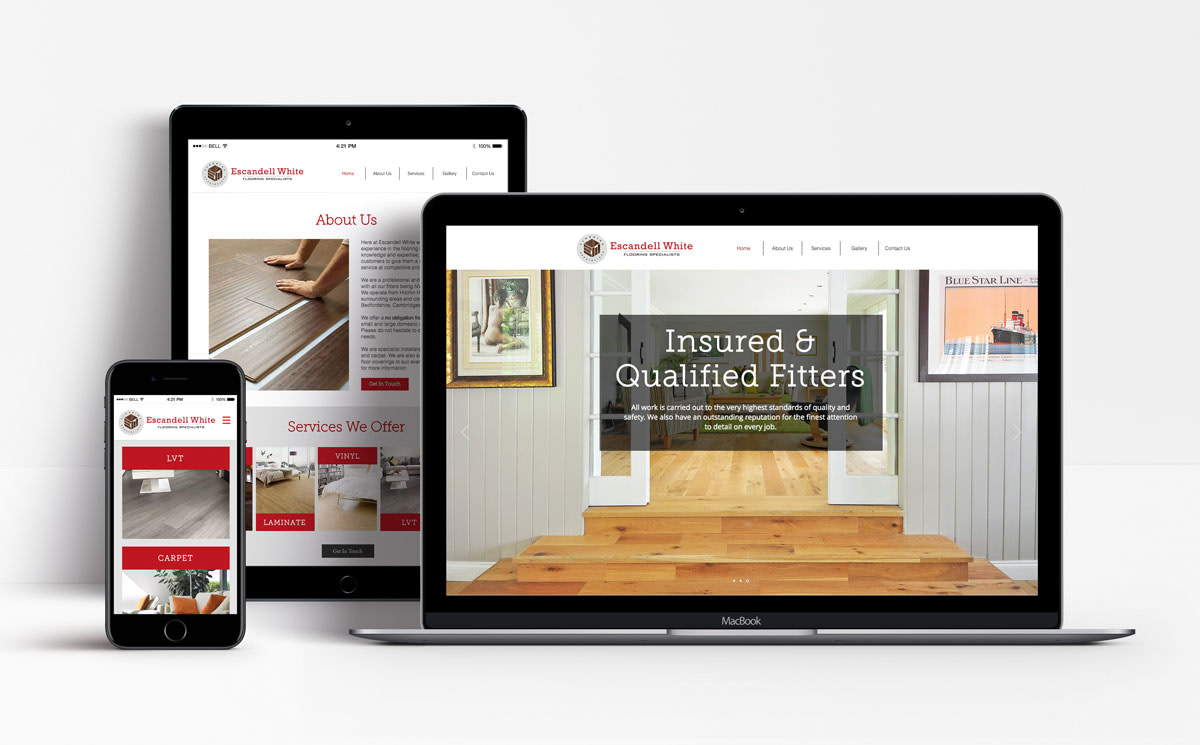 escandell white web design hertfordshire optimised