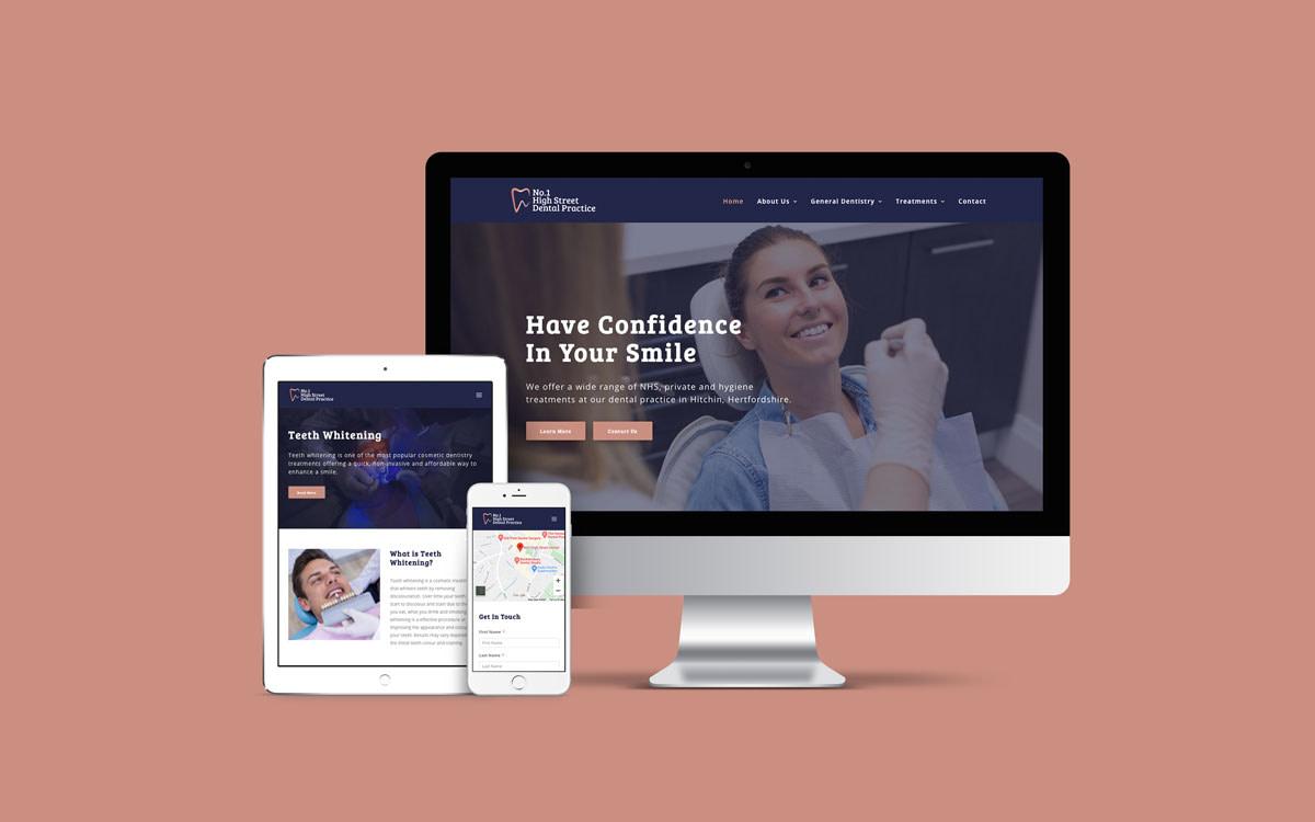 Dental Website Design device showcase mockup