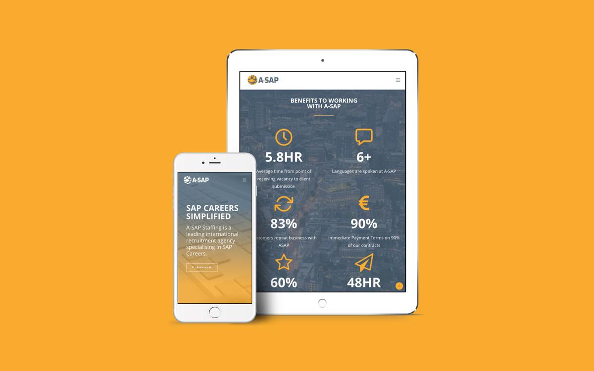 website tablet mobile mockup a sap recruitment