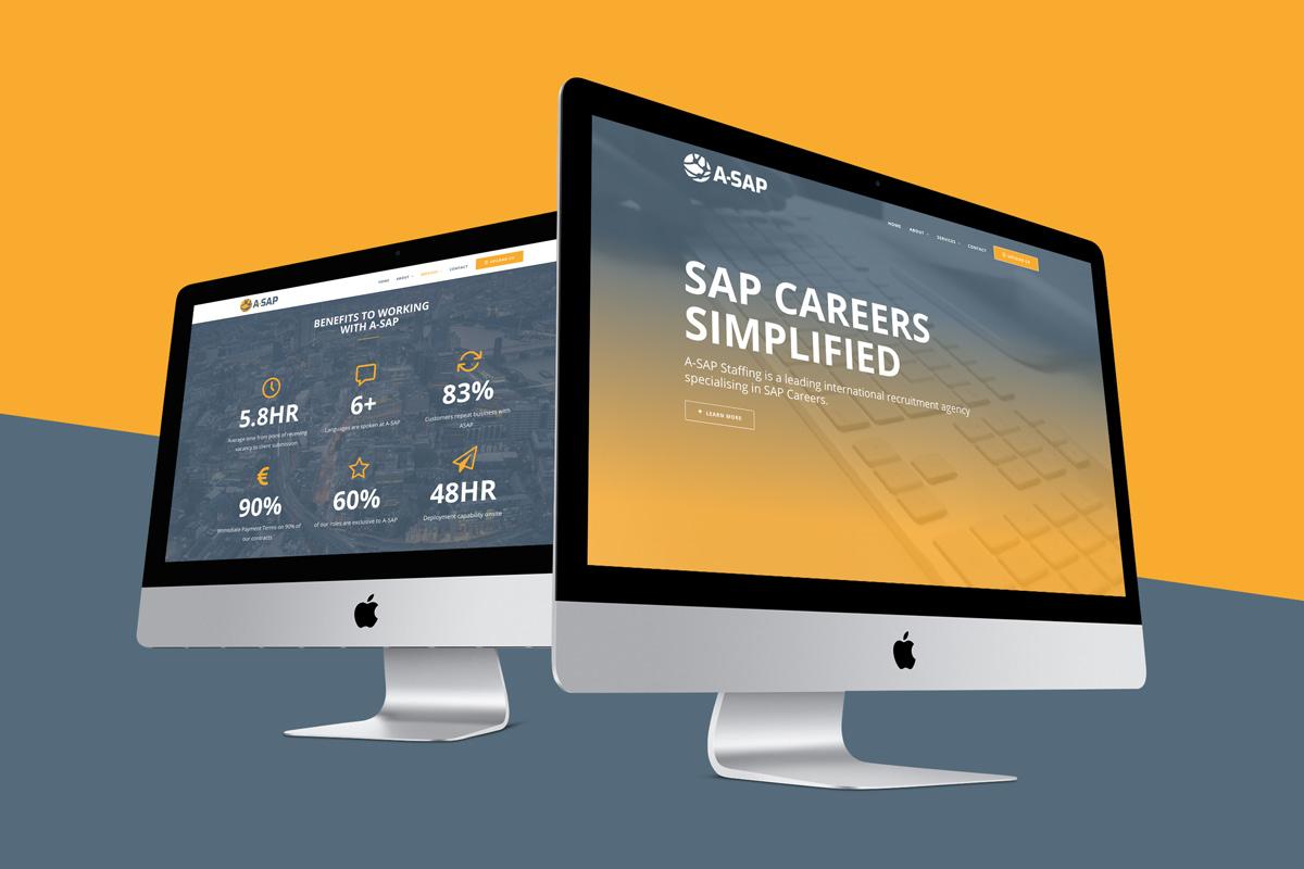A SAP RECRUITMENT WEBSITE DESIGN MOCKUP
