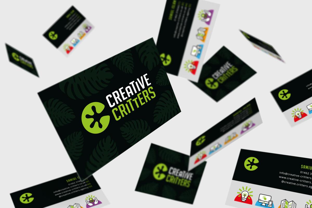 business card mock up branding agency in Hertfordshire