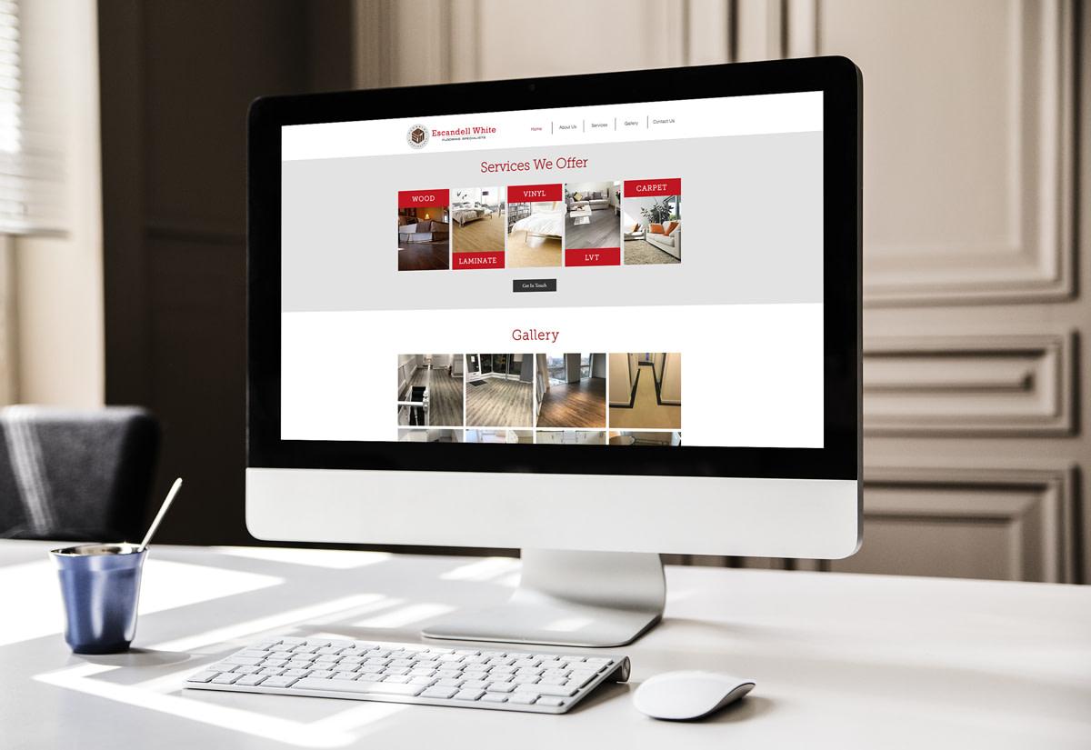 escandell white web design hertfordshire Desktop View