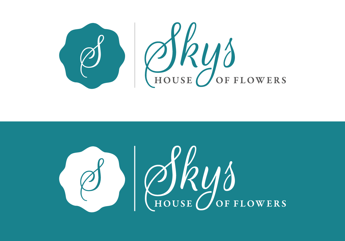 skys house of flowers main logo design