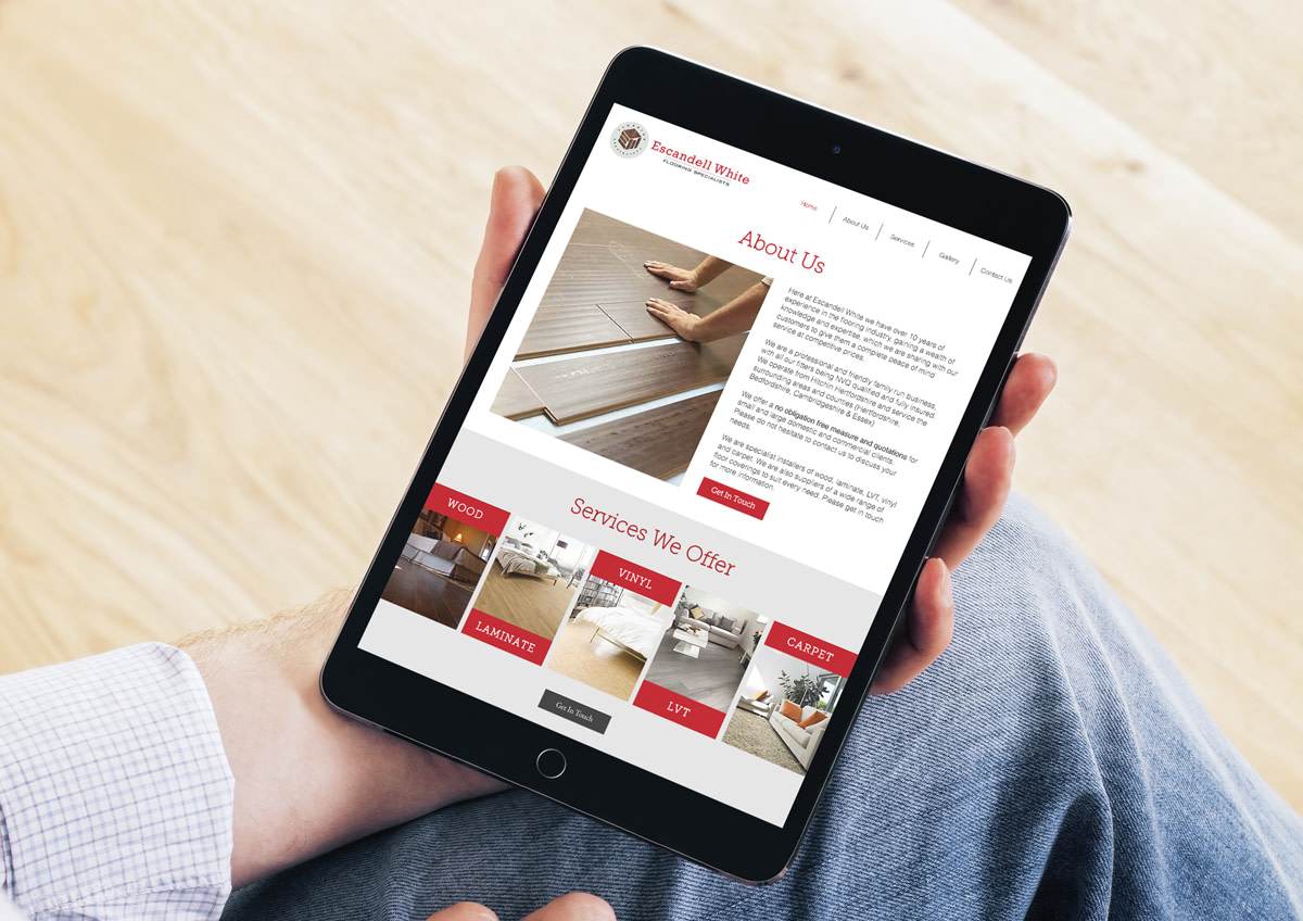 escandell white web design hertfordshire Tablet View