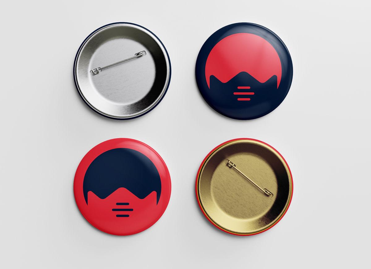 Maskerade Pin Button Mockup 4