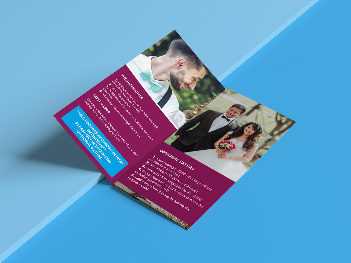 Elev8 Imagery Print Design Tri Fold Leaflet Inside View Folded