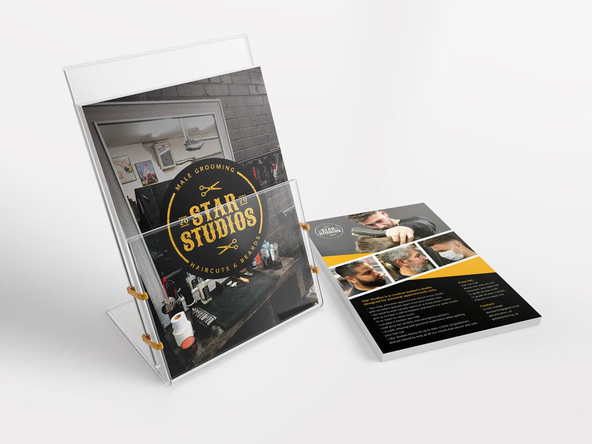 star studios Leaflet Holder Mockup