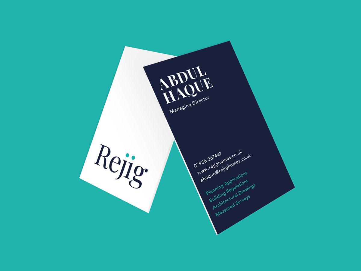 ARCHITECT BRAND DESIGN REJIG HOMES BUSINESS CARD MOCKUP