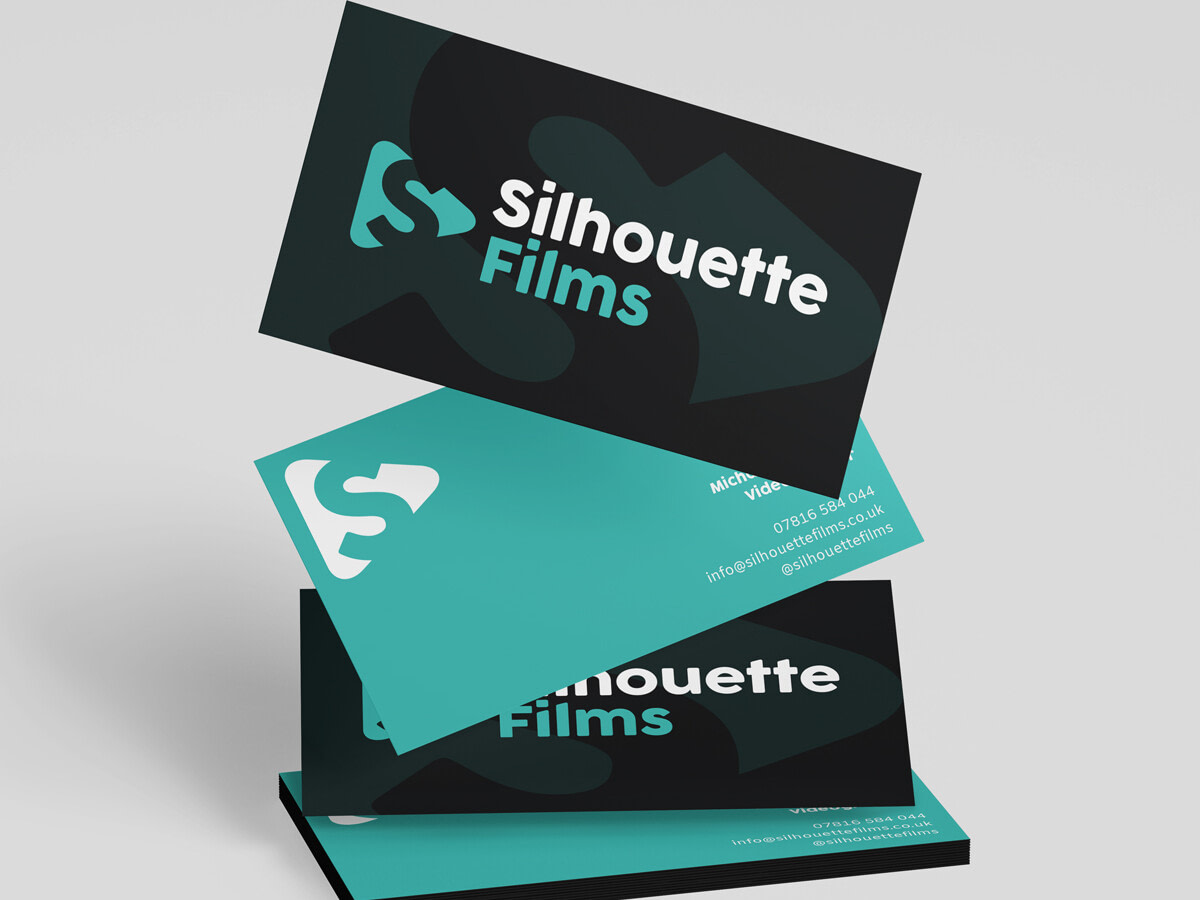 silhouette films Business Card Mockup uai