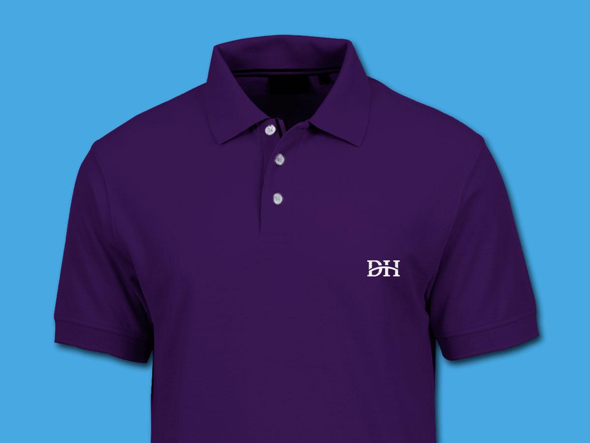 Dehavilland purple polo shirt mockup