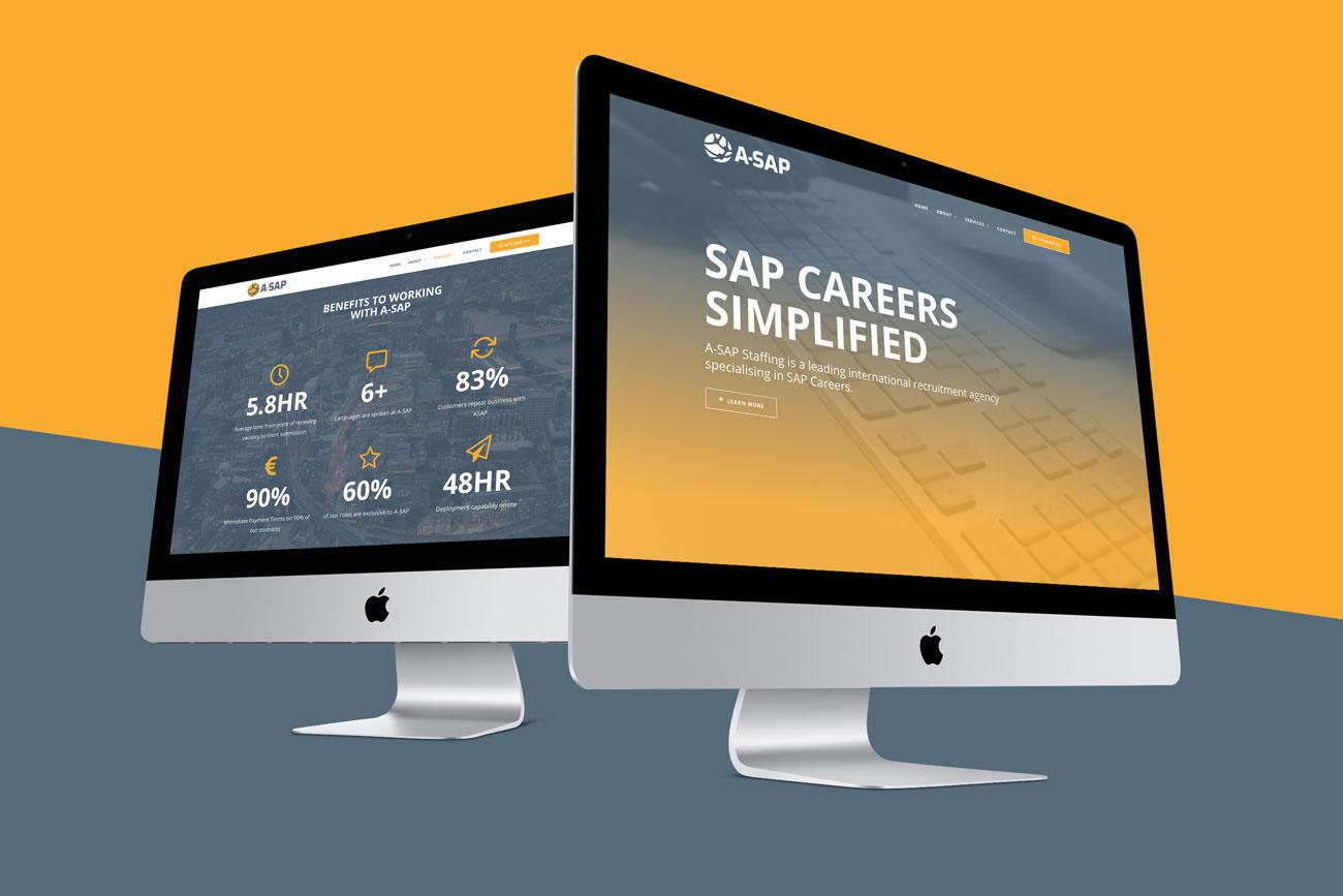 ASAP Recruitment Bedfordshire Responsive Website Design Double Desktop View