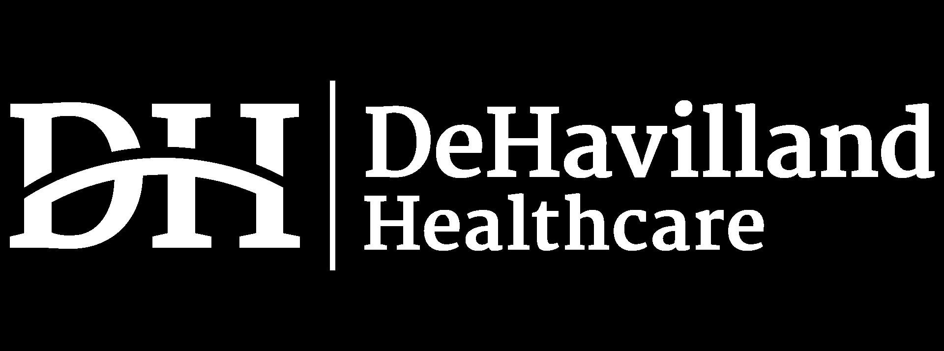 DeHavilland healthcare recruitment logo dark theme