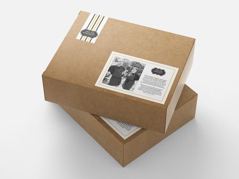 taylor kingsley catering food box packaging stacked mockup optimised uai