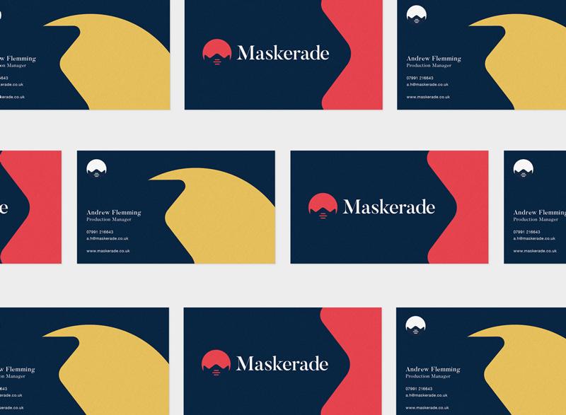 MASKERADE brand identity Business Card mockup optimised