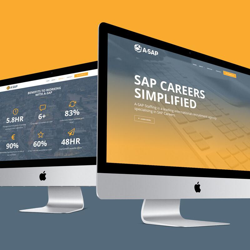 A SAP RECRUITMENT WEBSITE DESIGN MOCKUP uai