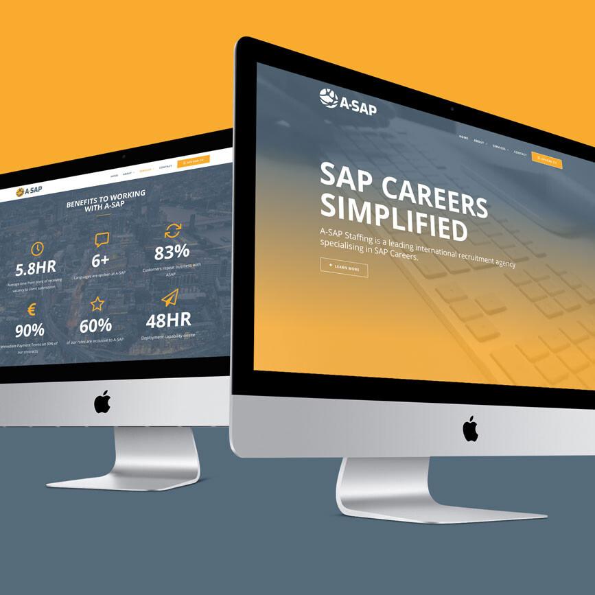 ASAP Recruitment Bedfordshire Responsive Website Design Double Desktop View uai